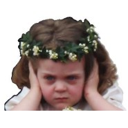The Royal Wedding's Frowning Flower Girl