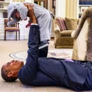 President Obama and Baby Ella