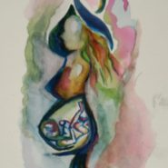 My Daughter's Painting of a Pregnant Woman