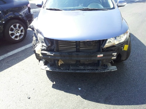 One of the cars after the accident