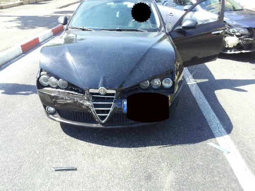 Another car after the accident