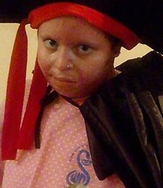 Ayala Shapira last week, in her Purim costume!