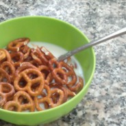 Why I Let My Son Eat Pretzels with Milk This Morning