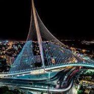 Spectacular Pesach Lights at Jerusalem´s Chord Bridge