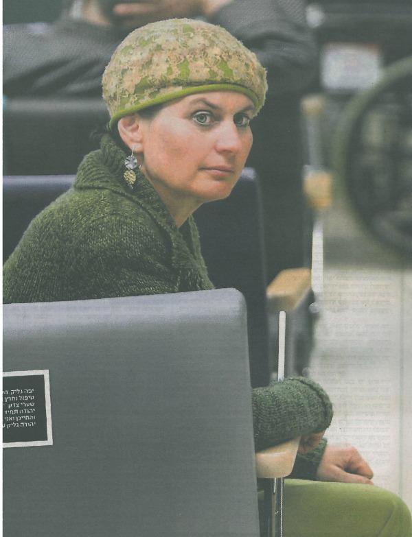 Yaffa Glick this week at Shaarei Tsedek Medical Center