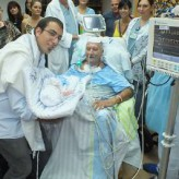 Straight from the ICU to his Grandson's Bris