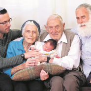 "Celebrating Birth of 100th Great-Grandchild: ""This is our response to Hitler"""