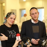 1st Interview with Michal and Shimon Gross after Birth (2-Minute Video)