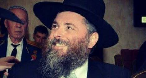 Rabbi Markowitz at his daughter's wedding last month.