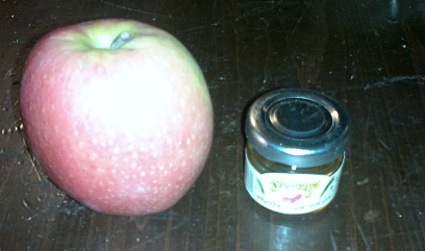 The apple and honey are in honor of Rosh Hashana, when the attack was planned.
