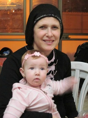Ayala with her baby Batsheva. This was her 1st daughter born in 16 years!