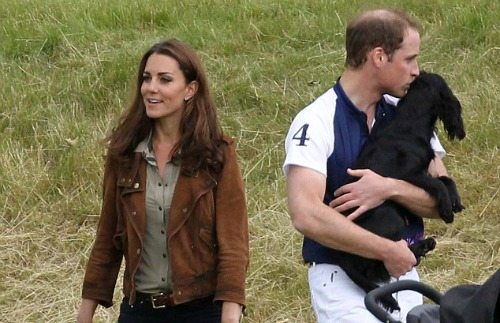 Prince William, Princess Catherine, and their cocker spaniel Lupo