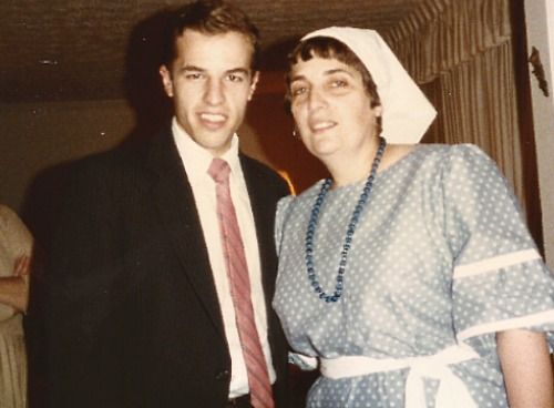 Rabbi Cohen with his mother as a young man.