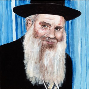 "A painting of Rabbi Chaim Aharon Weinberg zt""l"