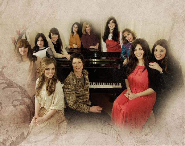 "Rivka Leah and her fellow vocalists from ""Silent Prayer"""