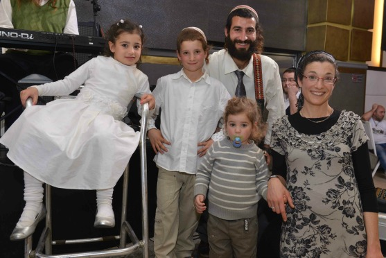"Hillel z""l and Hadas Rudich with their children this past spring."