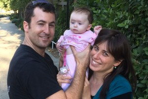 Tzipi Hotovely-Alon with her husband and daughter